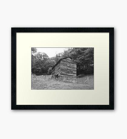 Black and White Barn - Mars Hill, N.C. Framed Print