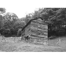 Black and White Barn - Mars Hill, N.C. Photographic Print