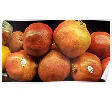Pomegranates on Display Poster