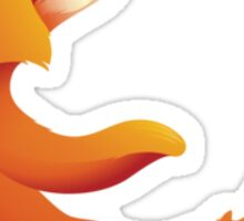 Globeless Firefox Sticker