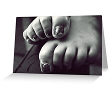 turned heads, curled toes. Greeting Card