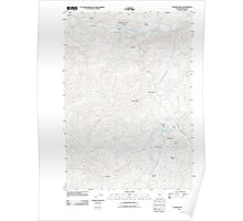 USGS Topo Map Oregon Painted Hills 20110825 TM Poster