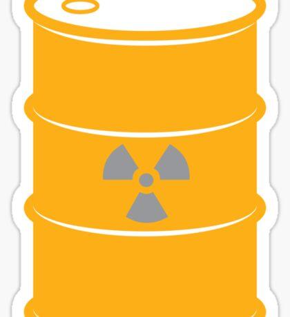 Radioactive Barrel Illustration Sticker