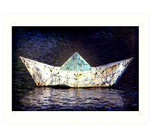 Glass Boat Art Print