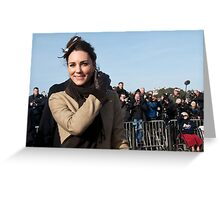 Kate meets the press Greeting Card