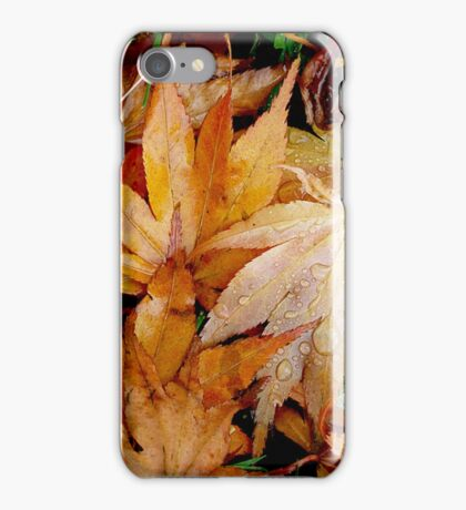 Fallen Leaves and Water iPhone Case/Skin