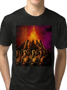 dark army in the volcano Tri-blend T-Shirt