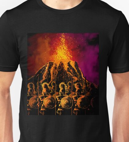 dark army in the volcano Unisex T-Shirt