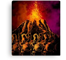 dark army in the volcano Canvas Print