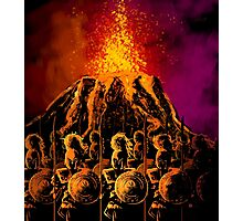 dark army in the volcano Photographic Print