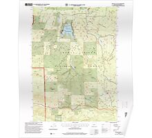 USGS Topo Map Oregon Willow Lake 282109 1997 24000 Poster