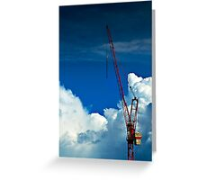 Cloud Construction Greeting Card