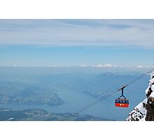 Mt. Pilatus Cable Car Photographic Print