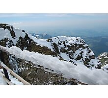 Ice on Railing of Mt. Pilatus Photographic Print