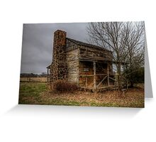 Cabin at Ft. Parker (Groesbeck, Texas) Greeting Card