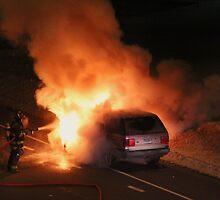 Car fire  by jdaricekphotos