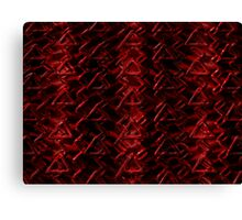 Red Caution  Canvas Print