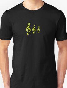 Yellow Treble Clef Duvet Cover Musician T-Shirt Sticker T-Shirt
