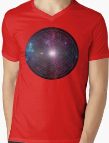 Sacred Geometry: Flower of Life V - Cosmos Mens V-Neck T-Shirt