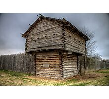 Ft. Parker Stockade and Guard Tower Photographic Print