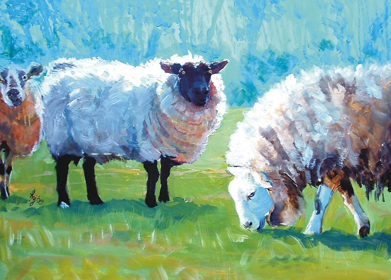 Quot Summer Light Acrylic Painting Of Sheep In Sun Light Quot By