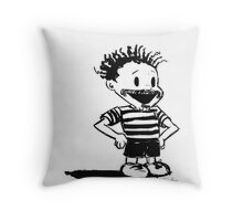 Black Calvin Throw Pillow