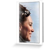 The sunshine of her smile Greeting Card