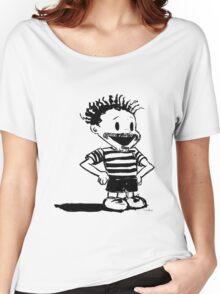 Black Calvin Women's Relaxed Fit T-Shirt