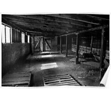 Old Barn Interior Poster