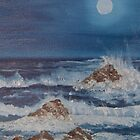 Moonlit waves by Holly Martinson