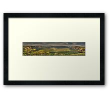 Leap Of Faith - Govetts Leap & Grose Valley (35 Exposure Panorama) - The HDR Experience Framed Print
