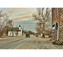 Scene from a Small Town in Texas Photographic Print