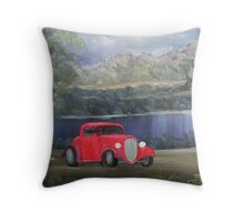 Park'n and Spark'n in an old fashion way Throw Pillow