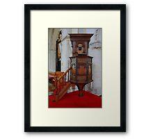 St Nicholas At Wade - Pulpit Framed Print
