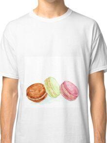 Watercolour macaroon cakes Classic T-Shirt