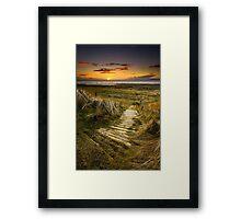 Sunset Steps Framed Print