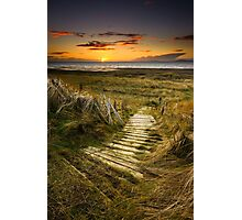 Sunset Steps Photographic Print