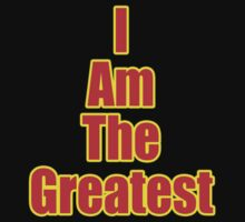I Am The Greatest - T-Shirt - Quote Sticker One Piece - Long Sleeve