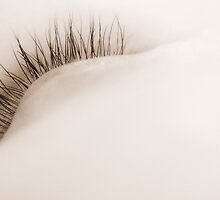 Close-up macro abstract shot of eyelashes  by Camille Wesser