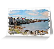 Indian Harbour watercolour Greeting Card