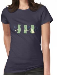 Musical Notes Womens Fitted T-Shirt