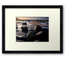 Sunset over Westward Ho Framed Print