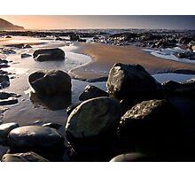 Sunset over Westward Ho Photographic Print