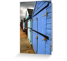 Highcliffe huts Greeting Card