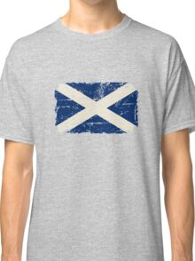 Scotland Flag - Vintage Look Classic T-Shirt