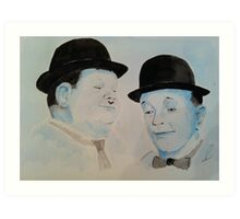 Laurel & Hardy a Wistful Moment Art Print