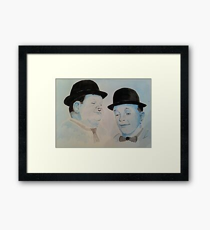 Laurel & Hardy a Wistful Moment Framed Print