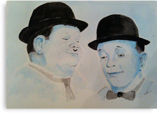 Laurel & Hardy a Wistful Moment by dennysart
