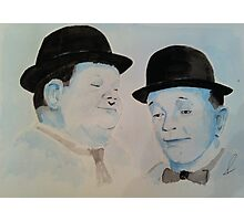 Laurel & Hardy a Wistful Moment Photographic Print