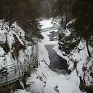 High Falls Gorge... Base of the Falls by linmarie